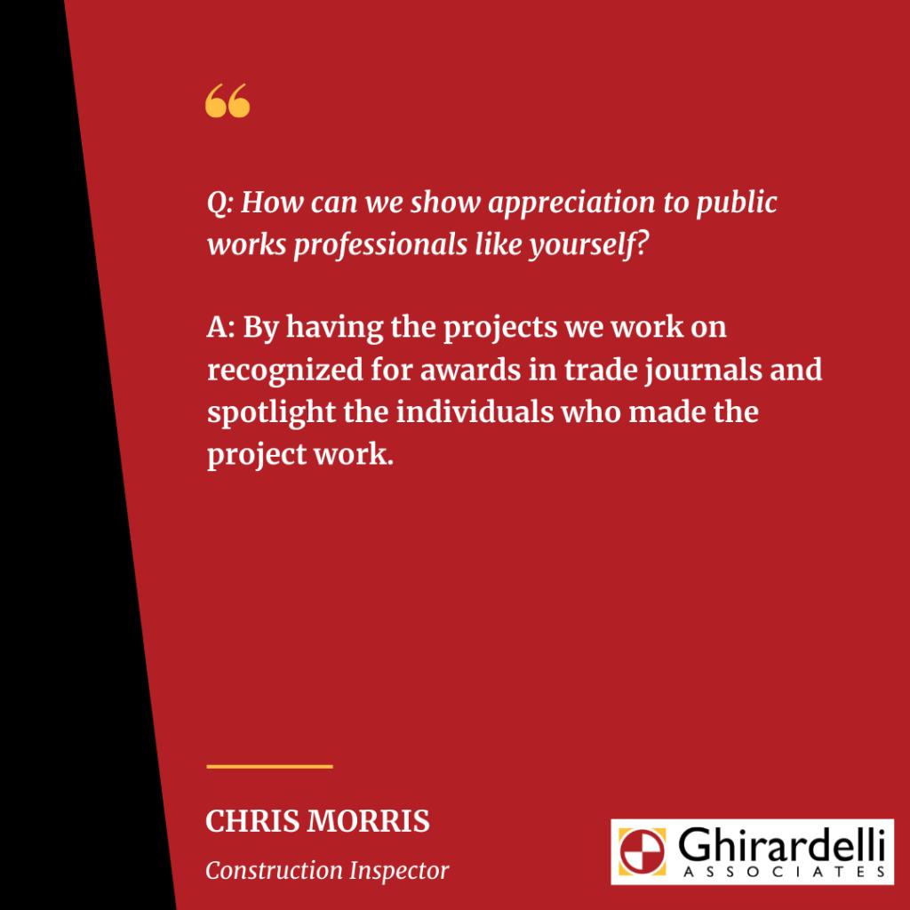 APWA Public Works Week Spotlight on Chris Morris